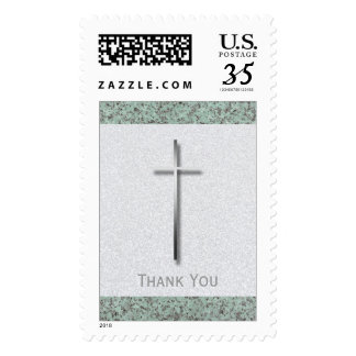 Metal Cross Stone Funeral Thank You Stamp 1