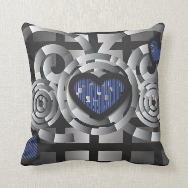 Metal crush throw pillows