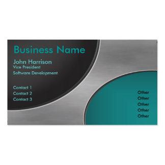 Metal Cutout Circles business card