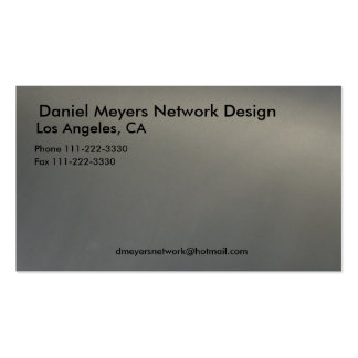metal, Daniel Meyers Network Design, Los Angele... Double-Sided Standard Business Cards (Pack Of 100)