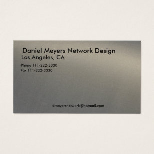 Metal network business cards templates zazzle metal daniel meyers network design los angele business card reheart Gallery
