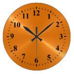 Metal de acero cepillado brillante de oro reloj de pared