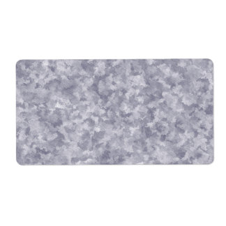 Metal de acero galvanizado falsa plata etiqueta de envío