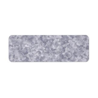 Metal de acero galvanizado falsa plata etiqueta de remitente