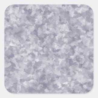 Metal de acero galvanizado falsa plata pegatina cuadrada