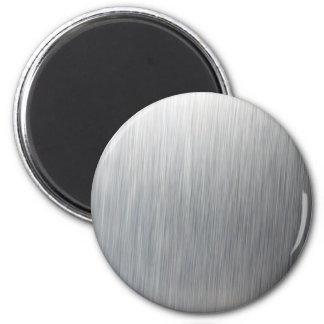 Metal de aluminio cepillado imán redondo 5 cm