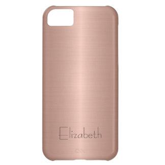 Metal de bronce del acero inoxidable funda para iPhone 5C