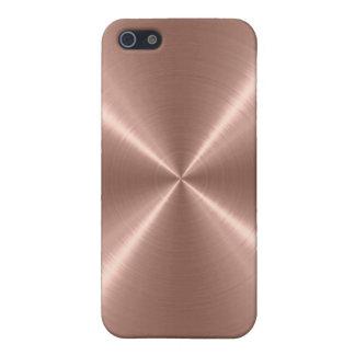 Metal de bronce del acero inoxidable iPhone 5 carcasa