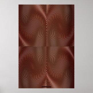 Metal de bronce en el arte rojo Lge de la pared de Póster