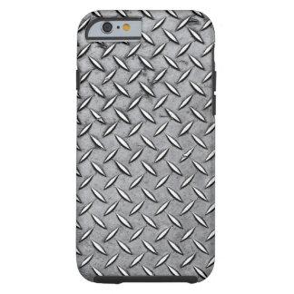 Metal de hombres del corte del diamante - mirada funda para iPhone 6 tough