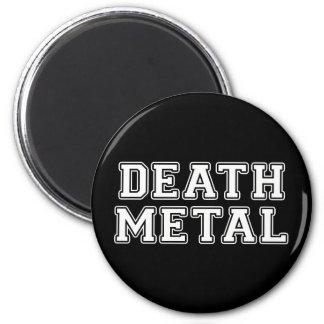 Metal de la muerte imán redondo 5 cm