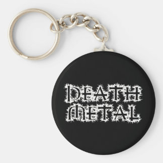 Metal de la muerte llavero redondo tipo pin