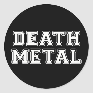 Metal de la muerte pegatina redonda