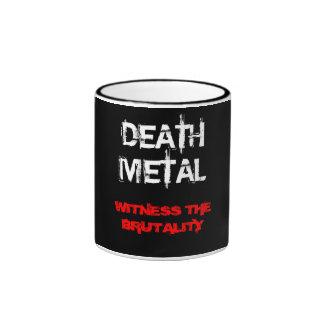 Metal de la muerte tazas
