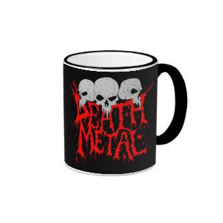 Metal de la muerte taza de café