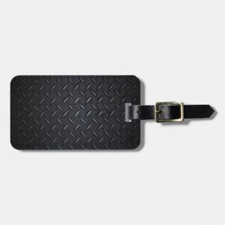 Metal de la placa del diamante negro etiquetas maletas