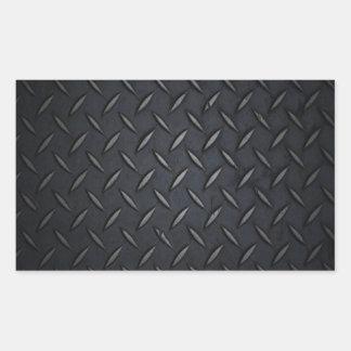 Metal de la placa del diamante negro rectangular pegatinas