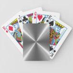 Metal de plata del acero inoxidable cartas de juego