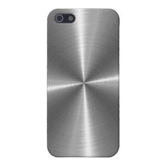 Metal de plata del acero inoxidable iPhone 5 carcasas