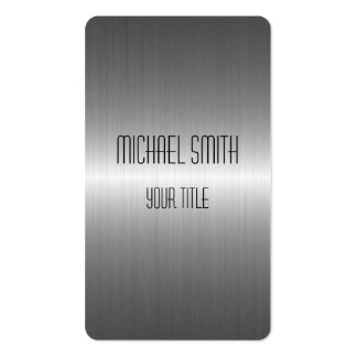 Metal de plata del acero inoxidable tarjetas personales