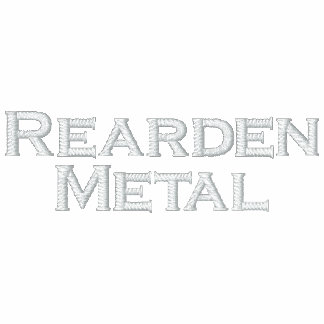 Metal de Rearden Sudadera Bordada Con Capucha Y Cremallera