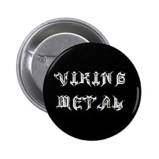 Metal de Viking Pin Redondo De 2 Pulgadas