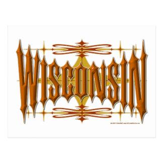Metal de Wisconsin Tarjeta Postal