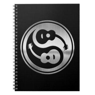 Metal de Yang de la guitarra Notebook