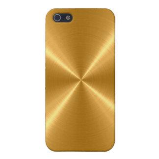 Metal del acero inoxidable del oro iPhone 5 carcasas