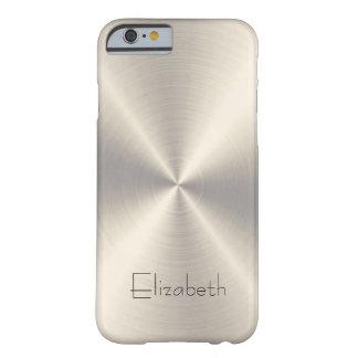 Metal del acero inoxidable funda para iPhone 6 barely there