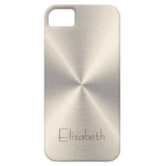 Metal del acero inoxidable funda para iPhone 5 barely there
