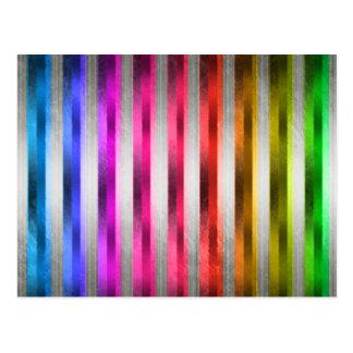 Metal del arco iris tarjeta postal