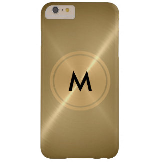 Metal del botón del oro y de bronce del acero funda para iPhone 6 plus barely there