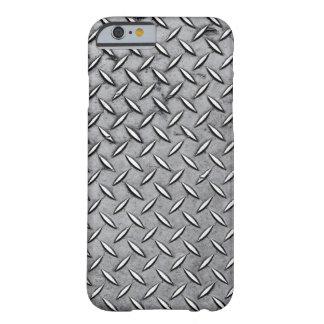 Metal del corte del diamante - mirada metálica funda de iPhone 6 barely there