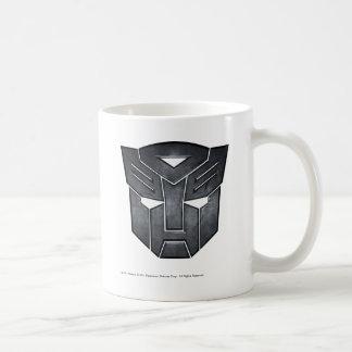 Metal del escudo de Autobot Taza Básica Blanca