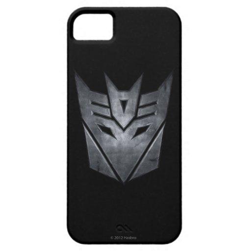 Metal del escudo de Decepticon iPhone 5 Case-Mate Cárcasas