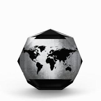 Metal del mapa del mundo
