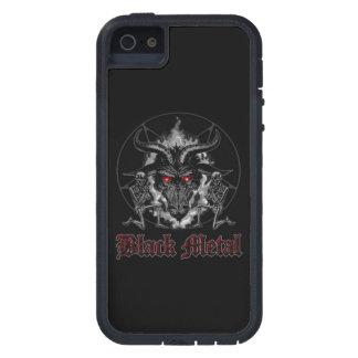 Metal del negro del Pentagram de Baphomet iPhone 5 Fundas