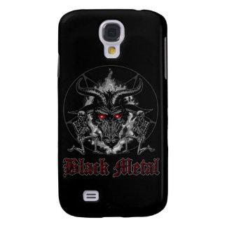 Metal del negro del Pentagram de Baphomet Funda Para Galaxy S4
