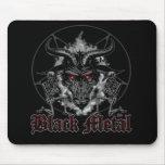 Metal del negro del Pentagram de Baphomet Alfombrilla De Ratón