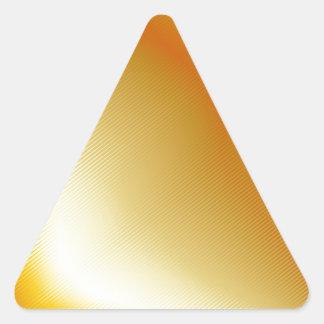 Metal del oro del alto grado pegatina triangular