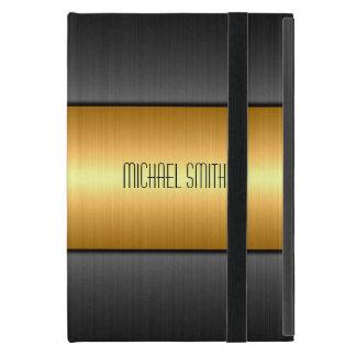 Metal del oro y del acero inoxidable del negro iPad mini coberturas