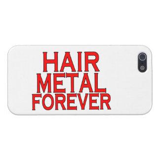 Metal del pelo para siempre iPhone 5 carcasas