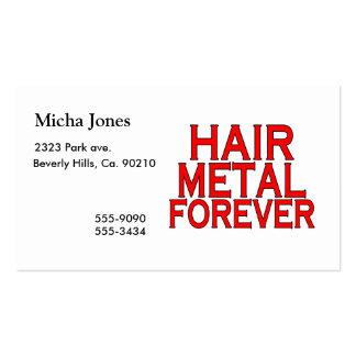 Metal del pelo para siempre tarjetas de visita