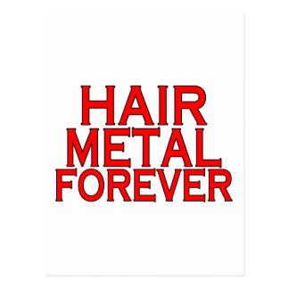 Metal del pelo para siempre tarjetas postales