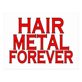 Metal del pelo para siempre tarjeta postal