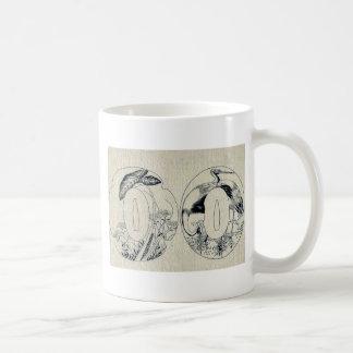 Metal design for sword guards Ukiyo-e. Coffee Mug