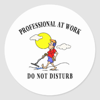 Metal Detecting Gifts Classic Round Sticker