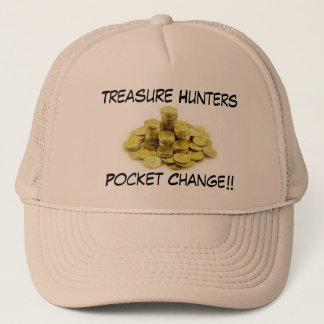 Metal Detecting Gold Coins Pile, Treasure Hunte... Trucker Hat
