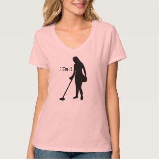 Metal Detecting - I Dig It - Ladies V Neck T Shirts
